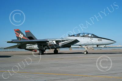 F-14USN  01257 A static Grumman F-14 Tomcat USN 160396 VF-201 HUNTERS USS John F Kennedy 8-1998, by Joel Simmons