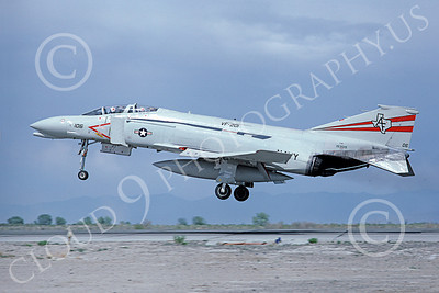 F-4USN 00228 McDonnell Douglas F-4 Phantom II US Navy 153019 VF-201 HUNTERS NAAS Fallon June 1980, by Michael Grove, Sr