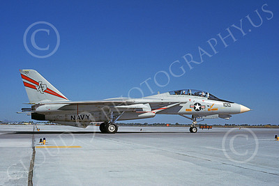 F-14USN  01263 A taxing Grumman F-14 Tomcat USN 162709 VF-201 HUNTERS NAS Fallon 8-1988, by Michael Grove, Sr