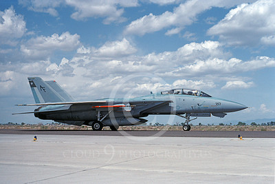 F-14USN  01281  A taxing Grumman F-14 Tomcat USN 158614 VF-202 SUPERHEATS NAS Fallon 5-1992, by Michael Grove, Sr