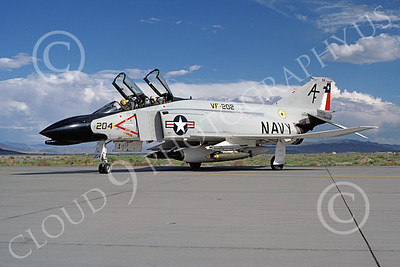 F-4USN 00279 McDonnell Douglas F-4 Phantom II US Navy VF-202 SUPERHEATS 152298, with real bombs, NAS Fallon July 1977, military airplane picture, by Michael Grove, Sr