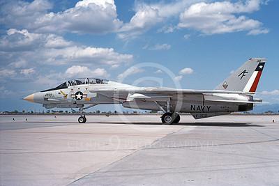 F-14USN  01273 A taxing Grumman F-14 Tomcat USN 162710 VF-202 SUPERHEATS NAS Fallon 5-1992, by Michael Grove, Sr