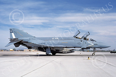 F-4USN 00683 A taxing McDonnell Douglas F-4 Phantom II US Navy 5765 VF-202 SUPERHEATS AF code NAS Fallon 5-1985 military airplane picture by Michael Grove, Sr