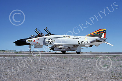 F-4USN 00275 McDonnell Douglas F-4 Phantom II US Navy VF-202 SUPERHEATS 152254 NAAS Fallon July 1977, military airplane picture, by Michael Grove, Sr
