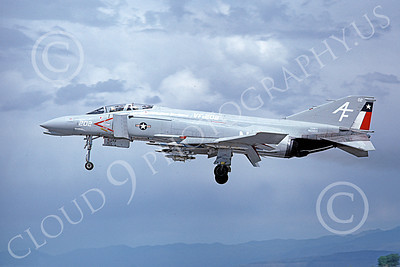 F-4USN 00756 A landing McDonnell Douglas F-4 Phantom II US Navy VF-202 Superheats AF NAS Fallon June 1980 military airplane picture by Michael Grove, Sr