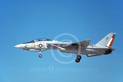 F-14USN  01272 A landing Grumman F-14 Tomcat USN 162711 VF-202 SUPERHEATS 8-1988, by Michael Grove, Sr
