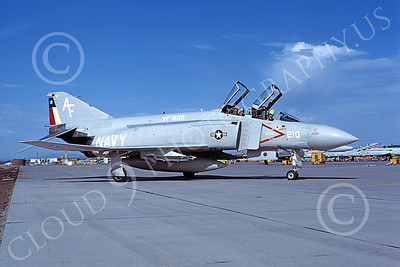 F-4USN 00609 A taxing McDonnell Douglas F-4N Phantom II USN 150492 VF-202 SUPERHEATS NAS Fallon June 1980 military airplane picture by Michael Grove, Sr