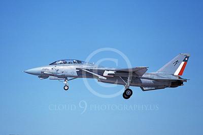 F-14USN  01274 A landing Grumman F-14 Tomcat USN 158636 VF-202 SUPERHEATS 8-1988, by Michael Grove, Sr