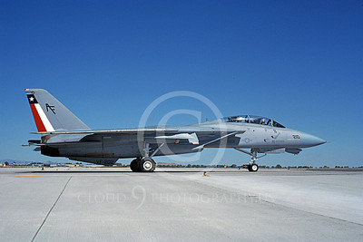 F-14USN  01275 A taxing Grumman F-14 Tomcat USN 1586434 VF-202 SUPERHEATS NAS Fallon 8-1988, by Michael Grove, Sr