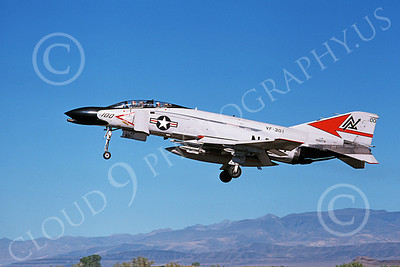 F-4USN 00510 A landing McDonnell Douglas F-4N Phantom II US Navy 152278 VF-301 DEVIL'S DISCIPLES commanding officer's plane NAS Fallon 11-1979 military airplane picture by Michael Grove