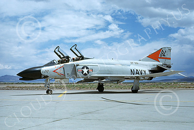 F-4USN 00669 A taxing McDonnell Douglas F-4 Phantom II USN VF-301 DEVIL'S DISCIPLES ND NAS Fallon June 1980 military airplane picture by Michael Grove, Sr