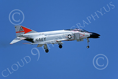 F-4USN 00512 A landing McDonnell Douglas F-4J Phantom II USN VF-301 DEVIL'S DISCIPLES ND 17 Oct 1979 military airplane picture by Michael Grove, Sr