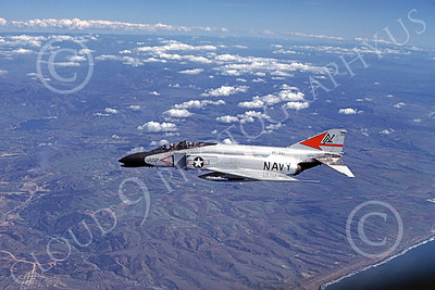F-4USN 00146 A flying McDonnell Douglas F-4J Phantom II USN VF-301 DEVIL'S DISCIPLES ND May 1981 military airplane picture by Jan C Jacobs