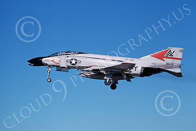 F-4USN 00216 A flying McDonnell Douglas F-4N Phantom II US Navy 150415 VF-301 DEVIL'S DISCIPLES ND code 11-1979 military airplane picture by Michael Grove