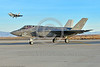 F-35USN-VFA-101 0001 A static Lockheed Martin F-35C USN stealth jet fighter VFA-101 GRIM REAPERS NJ code awaits take-off clearacne at NAS Fallon 12-2017 military airplane picture by Peter J  Mancus     DONEwt