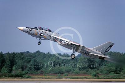 F-14USN 00924 A climbing Grumman F-14 Tomcat USN 161277 VF-101 GRIM REAPERS 9-1981, by Barry E Roop