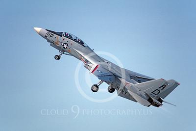 F-14USN 00922 A climbing Grumman F-14 Tomcat USN 161277 VF-101 GRIM REAPERS 9-1981, by Barry E Roop