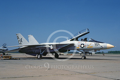 F-14USN 00921 A static Grumman F-14 Tomcat USN 161136 VF-101 GRIM REAPERS NAS Oceana 5-1982, by Thomas Cross
