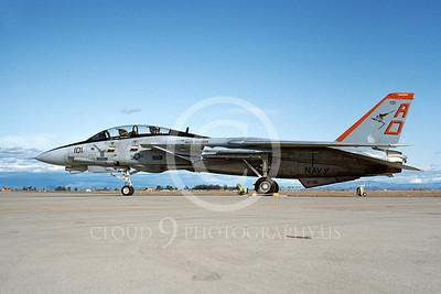 F-14USN 00919 A static Grumman F-14 Tomcat USN VF-101 GRIM REAPERS NAS Fallon 2-1993, by Michael Grove, Sr