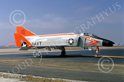 F-4USN 00123 McDonnell Douglas F-4A Phantom II US Navy 145307 VF-101 GRIM REAPERS Det A SAGEBURNER March 1968, by Michael Grove, Sr