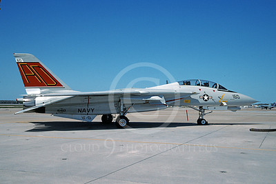 F-14USN 00911 A static Grumman F-14 Tomcat USN 164601 VF-101 GRIM REAPERS NAS Oceana 4-2005, by David F Brown