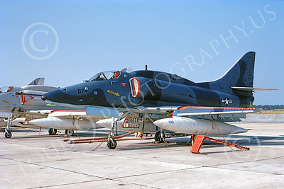 A-4USN 00038 A US Navy Douglas A-4 Skyhawk attack jet, 151056, VF-101 GRIM REAPERS, NAS Jax 8 Sept 1972, military airplane picture, by L B Sides