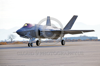F-35USN-VFA-101 0004 A Lockheed Martin F-35C USN stealth jet fighter VFA-101 GRIM REAPERS NJ code taxis for take-off at NAS Fallon 12-2017 military airplane picture by Peter J  Mancus     DONEwt