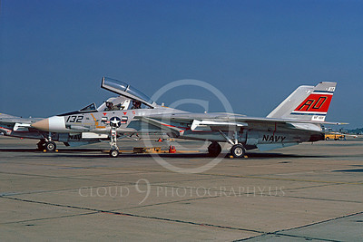 F-14USN 00907 A static Grumman F-14 Tomcat USN 158625 VF-101 GRIM REAPERS NAS Oceana 10-1977, by Michael Grove, Sr