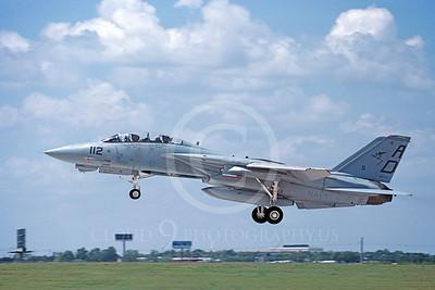 F-14USN 00912 A landing Grumman F-14 Tomcat USN 161137 VF-101 GRIM REAPERS 8-1988, by Michael Grove, Sr