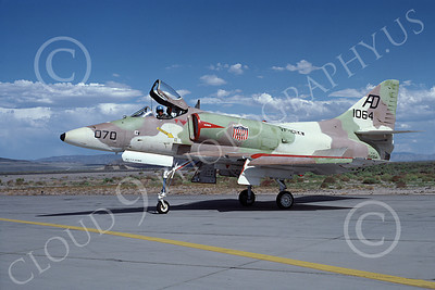 A-4USN 00099 A USN Douglas A-4 Skyhawk attack jet, 151064, VA-101KW GRIM REAPERS, NAS Fallon 7-1977, airplane picture, by Michael Grove, Sr