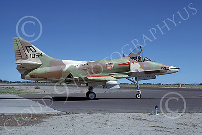 A-4USN 00098 A USN Douglas A-4 Skyhawk attack jet, 151064, VA-101KW GRIM REAPERS, NAS Fallon 7-1977, airplane picture, by Michael Grove, Sr