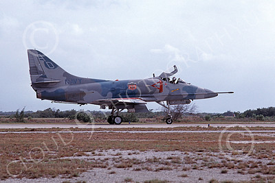 A-4USN 00282 A USN Douglas A-4 Skyhawk attack jet, 149653, VA-101KW GRIM REAPERS, NAS Fallon 4-1986, airplane picture, by Michael Grove, Sr