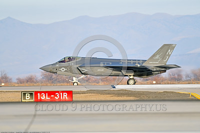 F-35USN-VFA-101 0005 A Lockheed Martin F-35C USN stealth jet fighter 169305 VFA-101 GRIM REAPERS NJ code on NAS Fallon's runway ready for take-off 12-2017 military airplane picture by Peter J  Mancus     DONEwt