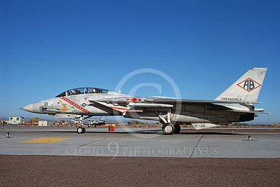 F-14USN 00939 A taxing Grumman F-14 Tomcat USN 161283 VF-102 DIAMONDBACKS USS America NAS Fallon 10-1983, by Michael Grove, Sr