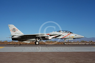 F-14USN 00945 A taxing Grumman F-14 Tomcat USN VF-102 DIAMONDBACKS USS America NAS Fallon 10-1983, by Michael Grove, Sr
