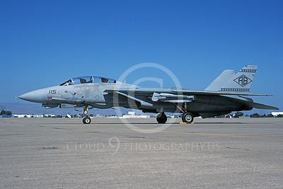 F-14USN 00941 A static Grumman F-14 Tomcat USN 161608 VF-102 DIAMONDBACKS USS America NAS Moffett 7-2000, by Michael Grove, Sr