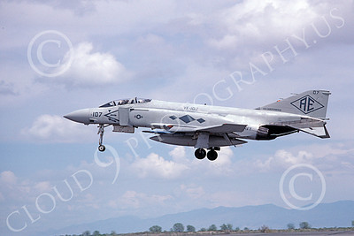 F-4USN 00506 A landing McDonnell Douglas F-4J Phantom II US Navy 157305 VF-102 DIAMONDBACKS USS Independence NAS Fallon 5-1980 military airplane picture by Michael Grove, Sr