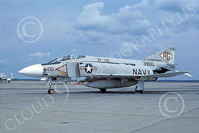 F-4USN 00829 A static McDonnell Douglas F-4J Phantom II 153900 US Navy VF-102 DIAMONDBACKS commanding officer's plane USS Independence NAS Oceana 5-1976 military airplane picture by Michael Grove, Sr