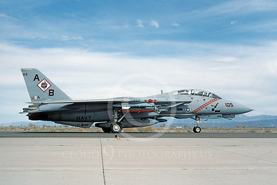 F-14USN 00949 A taxing Grumman F-14 Tomcat USN 161851 VF-102 DIAMONDBACKS USS America NAS Fallon 3-1995, by Michael Grove, Sr