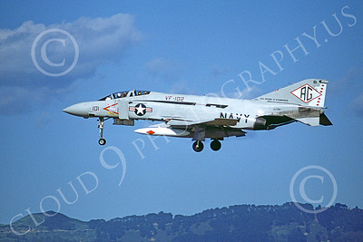 F-4USN 00278 A landing McDonnell Douglas F-4J Phantom II US Navy 157281 VF-102 DIAMONBACKS USS Dwight D Eisenhower March 1978 military airplane picture by Michael Grove, Sr