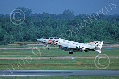 F-4USN 00270 A taking-off McDonnell Douglas F-4J Phantom II US Navy 157282 VF-102 DIAMONDBACKS USS Dwight Eisenhower Oct 1978 military airplane picture by Michael Grove, Sr