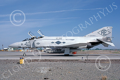 F-4USN 00909 A taxing McDonnell Douglas F-4J Phantom II 155766 US Navy VF-102 DIAMONDBACKS USS Independence NAS Fallon 5-1980 military airplane picture by Michael Grove, Sr