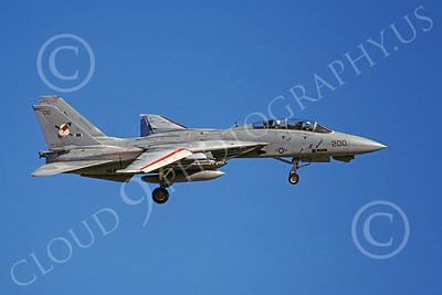 F-14USN 00956 A landing Grumman F-14 Tomcat USN 162921 VF-103 SLUGGERS 3-1993, by Michael Grove, Sr