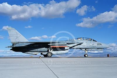 F-14USN 00997 A taxing Grumman F-14 Tomcat USN 160899 VF-103 SLUGGERS NAS Fallon 11-1986, by Michael Grove, Sr