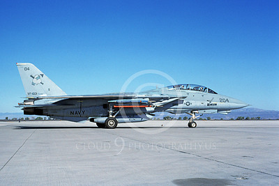 F-14USN 00985 A taxing Grumman F-14 Tomcat USN VF-103 SLUGGERS USS Saratoga NAS Fallon 10-1991, by Michael Grove, Sr