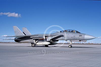 F-14USN 00995 A taxing Grumman F-14 Tomcat USN 161280 VF-103 SLUGGERS NAS Fallon 11-1986, by Michael Grove, Sr