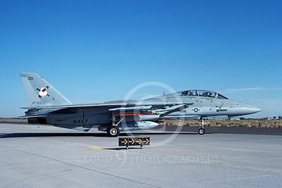 F-14USN 00981 A taxing Grumman F-14 Tomcat USN VF-103 SLUGGERS NAS Fallon 10-1991, by Michael Grove, Sr