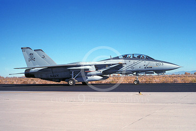 F-14USN 00963 A taxing Grumman F-14 Tomcat USN 162691 VF-103 JOLLY ROGERS NAS Fallon 11-1995, by Michael Grove, Sr