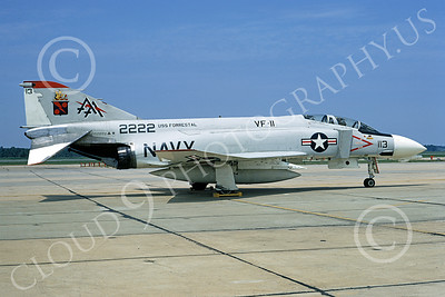F-4USN 00321 McDonnell Douglas F-4B Phantom II US Navy 152222 VF-11 RED RIPPERS USS Forrestal Andrews AFB 5 Aug 1970, by Frank MacSorley