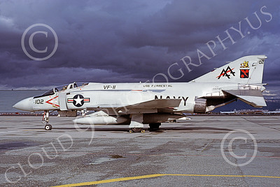 F-4USN 00333 McDonnell Douglas F-4J Phantom II US Navy 155747 VF-11 RED RIPPERS USS Forrestal NAS Moffett  Nov 1978, by Michael Grove, Sr